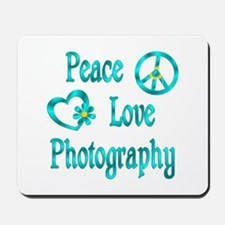 Peace Love Photography Mousepad