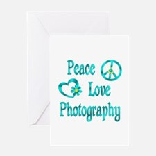 Peace Love Photography Greeting Card
