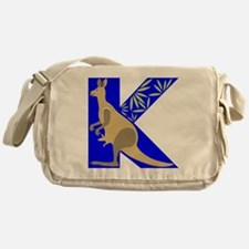 K is for Kangaroo Messenger Bag