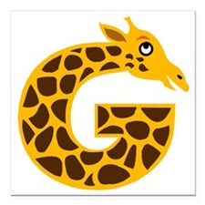 "G is for Giraffe Square Car Magnet 3"" x 3"""