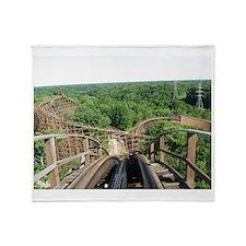 Kings Island Beast Roller Coaster Vi Throw Blanket