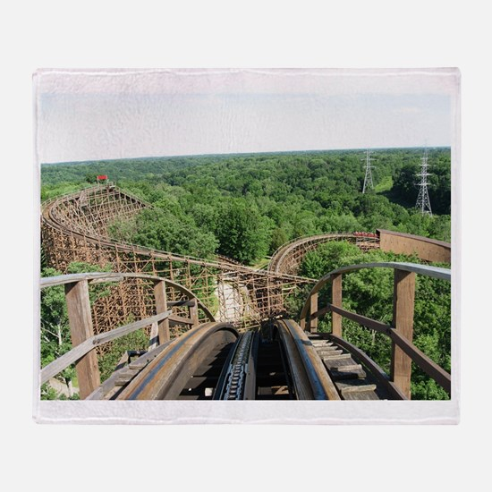 Kings Island Beast Roller Coaster Vi Throw Blanket