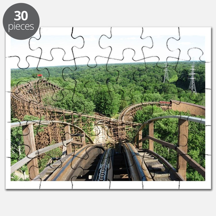 Kings Island Beast Roller Coaster View Puzzle