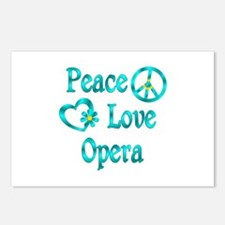 Peace Love Opera Postcards (Package of 8)