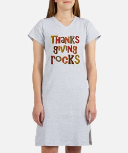 ThanksgivingRocks Women's Nightshirt