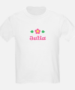 "Pink Daisy - ""Julia"" Kids T-Shirt"
