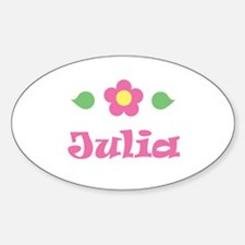 """Pink Daisy - """"Julia"""" Oval Decal"""