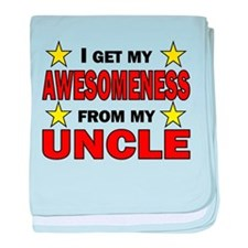 Awesomeness From My Uncle baby blanket