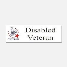 Disabled veteran bumper sticker Car Magnet 10 x 3