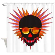 Spiky Psyche Shower Curtain