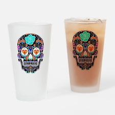 Dark Sugar Skull Drinking Glass