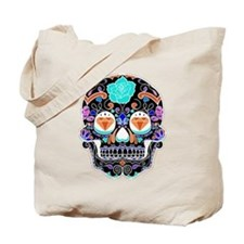 Dark Sugar Skull Tote Bag