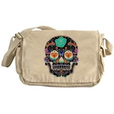 Dark Sugar Skull Messenger Bag