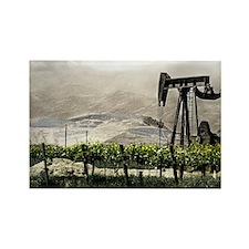 Vineyards & Oil - Oil County, Cal Rectangle Magnet