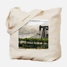 Vineyards & Oil - Oil County, California- Tote Bag