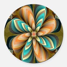 Flowers Please Round Car Magnet