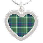 Tartan - Duncan Silver Heart Necklace