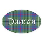 Tartan - Duncan Sticker (Oval 10 pk)