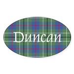 Tartan - Duncan Sticker (Oval 50 pk)