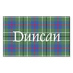Tartan - Duncan Sticker (Rectangle)