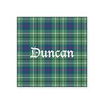 Tartan - Duncan Square Sticker 3