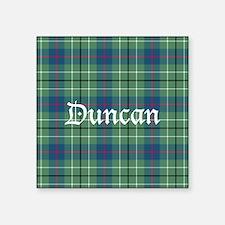 "Tartan - Duncan Square Sticker 3"" x 3"""