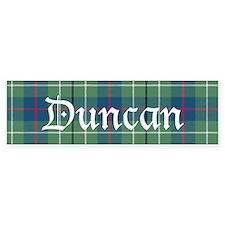 Tartan - Duncan Bumper Sticker
