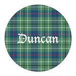 Tartan - Duncan Round Car Magnet