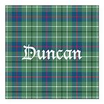 Tartan - Duncan Square Car Magnet 3