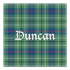 "Tartan - Duncan Square Car Magnet 3"" x 3"""