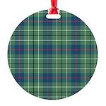 Tartan - Duncan Round Ornament