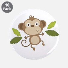 """Baby Monkey 3.5"""" Button (10 pack)"""