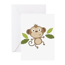 Baby Monkey Greeting Cards