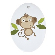 Baby Monkey Ornament (Oval)