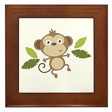 Baby Monkey Framed Tile