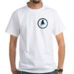 Shark Fin Logo White T-Shirt