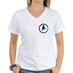 Shark Fin Logo Women's V-Neck T-Shirt