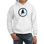 Shark Fin Logo Hooded Sweatshirt