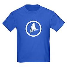 Shark Fin Logo Kids Dark T-Shirt