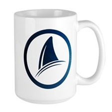 Shark Fin Logo Large Mug