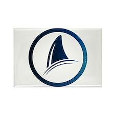 Shark Fin Logo Rectangle Magnet