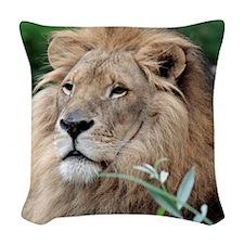 Lion010 Woven Throw Pillow