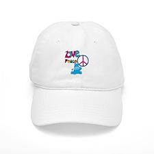 Love Peace Hippos Baseball Cap