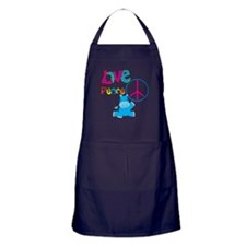 Love Peace Hippos Apron (dark)