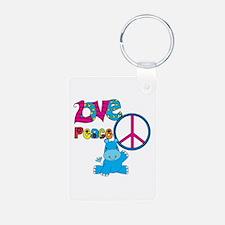 Love Peace Hippos Keychains