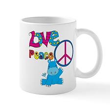 Love Peace Hippos Mug