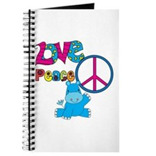 Love Peace Hippos Journal