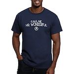 Call Me Mr. Wonderful Men's Fitted T-Shirt (dark)