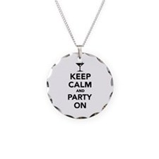 Keep calm and Party on Necklace