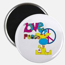 Love Peace Giraffe Magnet